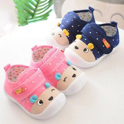 Newborn Baby Boy Girl Crib Shoes Soft Sole Sneakers Infant T