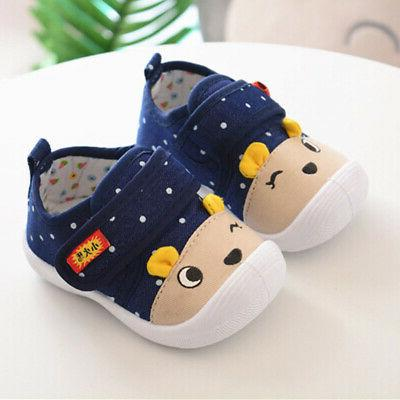 Newborn Crib Shoes Soft Sneakers Infant Toddler US