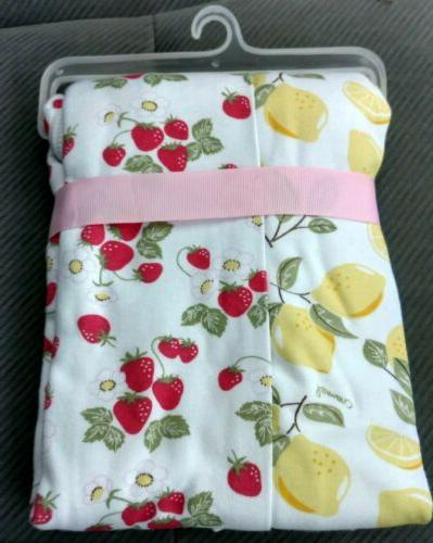 2 HUDSON Swaddle Blankets Lemons Girls Infant