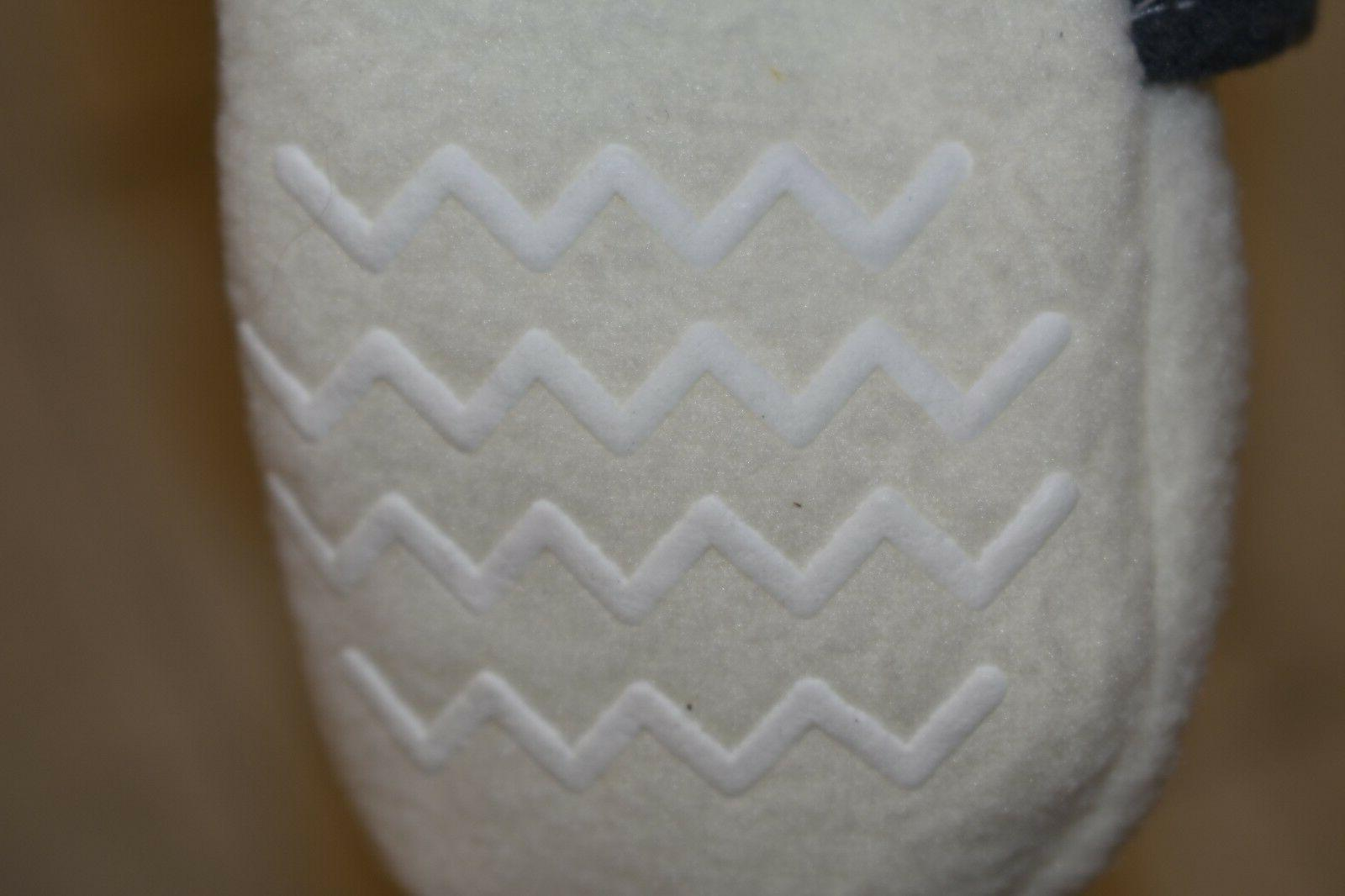 **Hudson Baby 54787 Fleece Bootie - Size 18-24 White/Gray