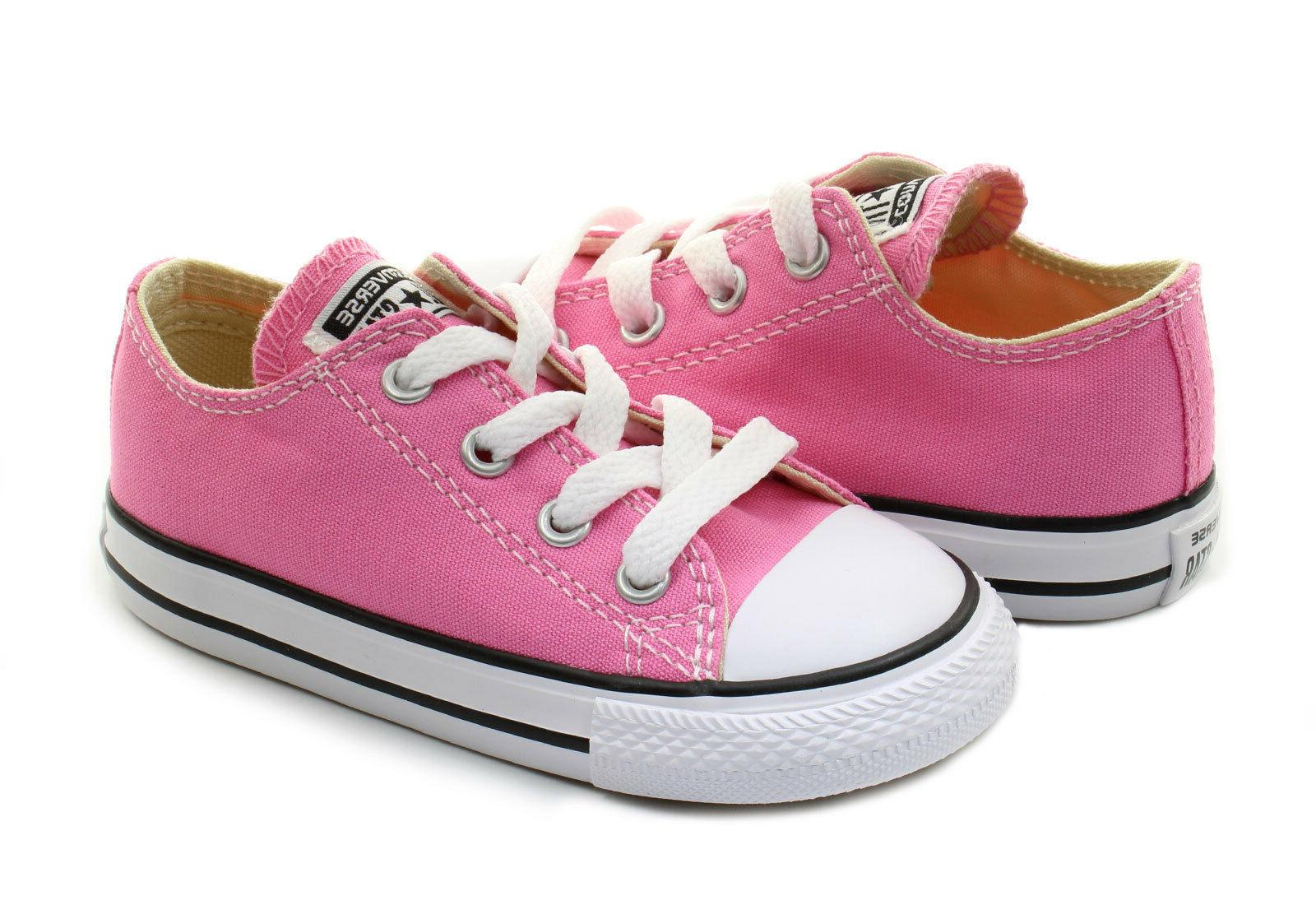 Converse All Star Ox Pink White Infant Toddler Little Kids G