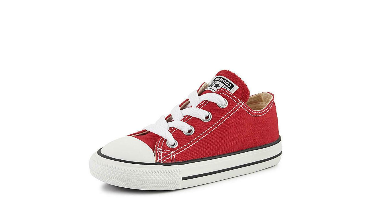 Converse All Star Ox Red White Toddler Infant Baby All