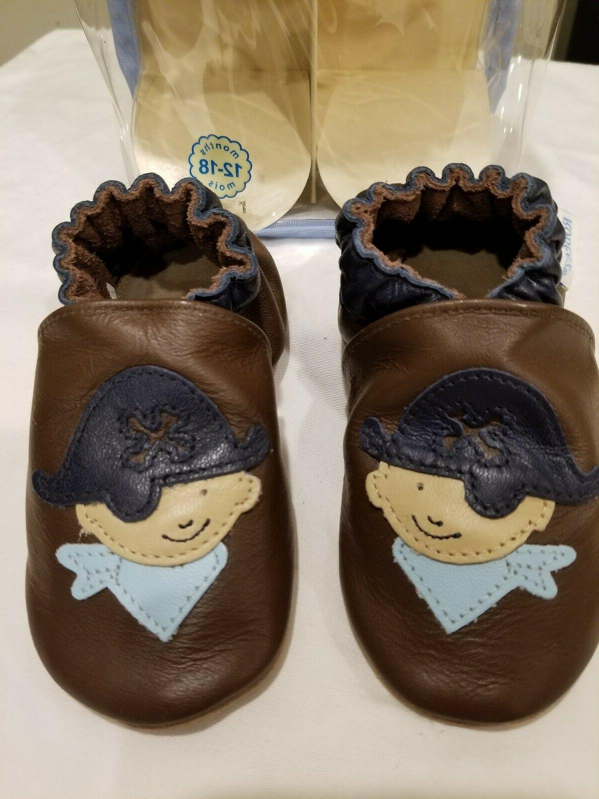 Robeez Pirate Brown Sole sizes