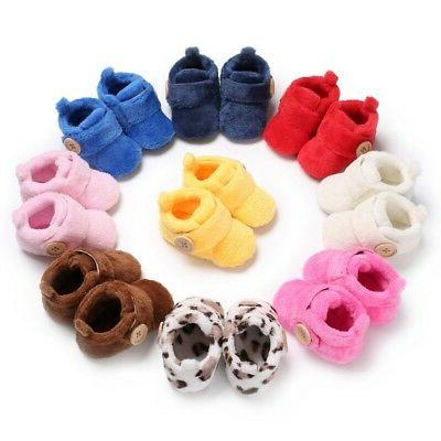 Baby Boy Sole Snow Infant Toddler Newborn Shoes US