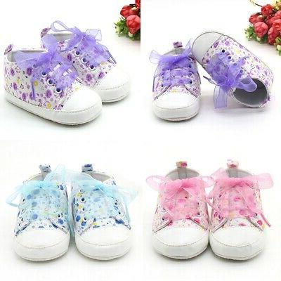 baby girls crib canvas shoes toddler soft