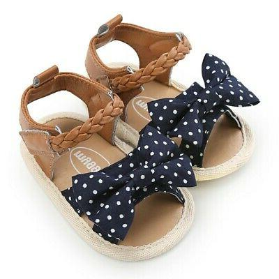 Girls Canvas Bow-knot Summer Shoes Walking Fashion