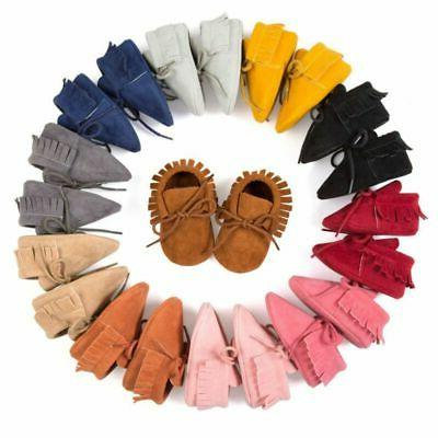 newborn baby cute tassel soft sole suede