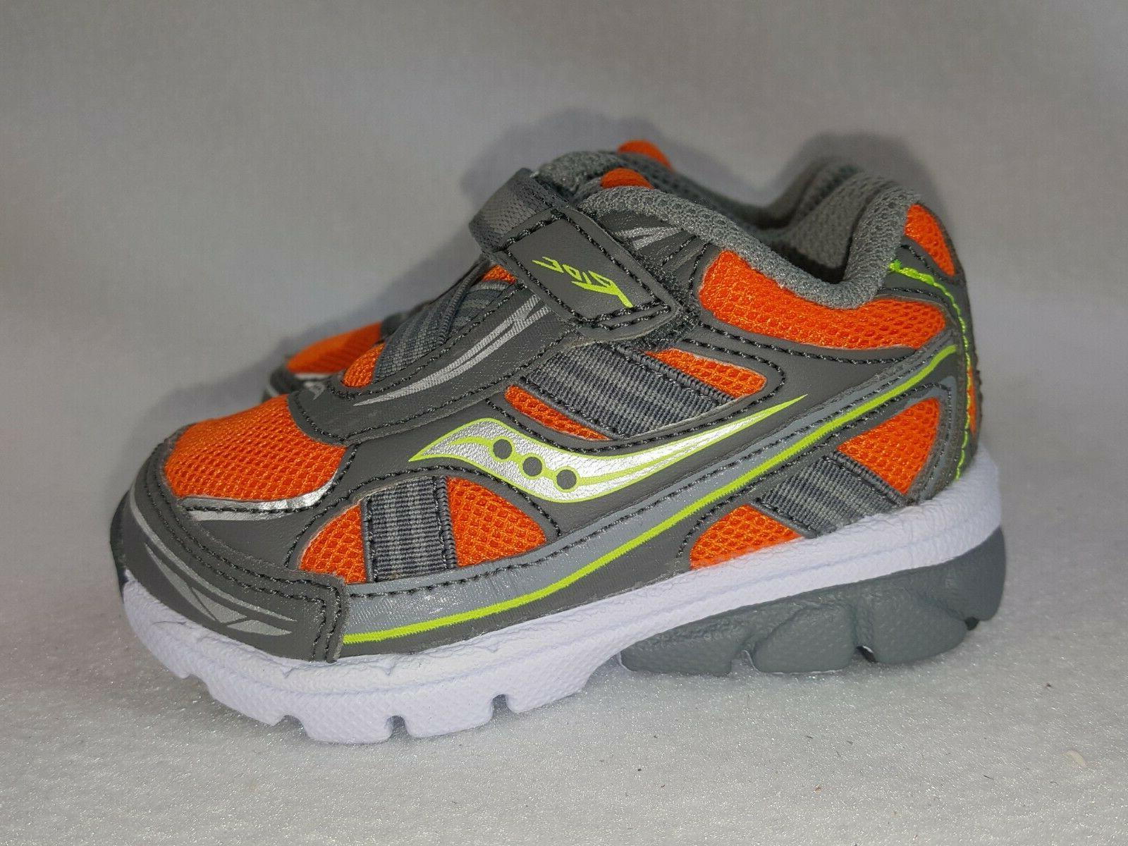 Saucony Shoes Boys Toddler Size 4.5 Wide Orange/Gray Sneaker