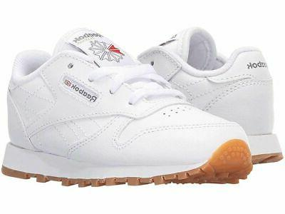 Reebok Classic Leather White Gum Infant Toddler Baby Boys Gi