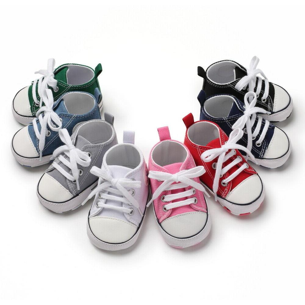 Classic Girl Crib Shoes Infant Sneakers Casual Size 1 3