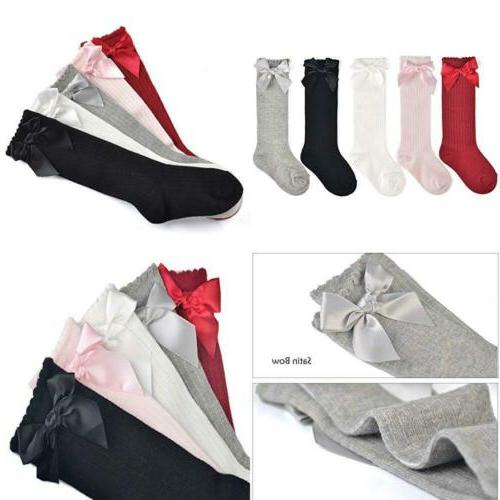 Durable Baby Girls Boys L, Assorted_Bow, 5 Pairs New
