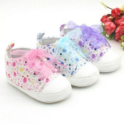 Baby Girls Crib Canvas Shoes Sneakers US