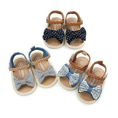 Baby Girls Shoes Know-Bow Sandals Wave Point Twist Belt Todd