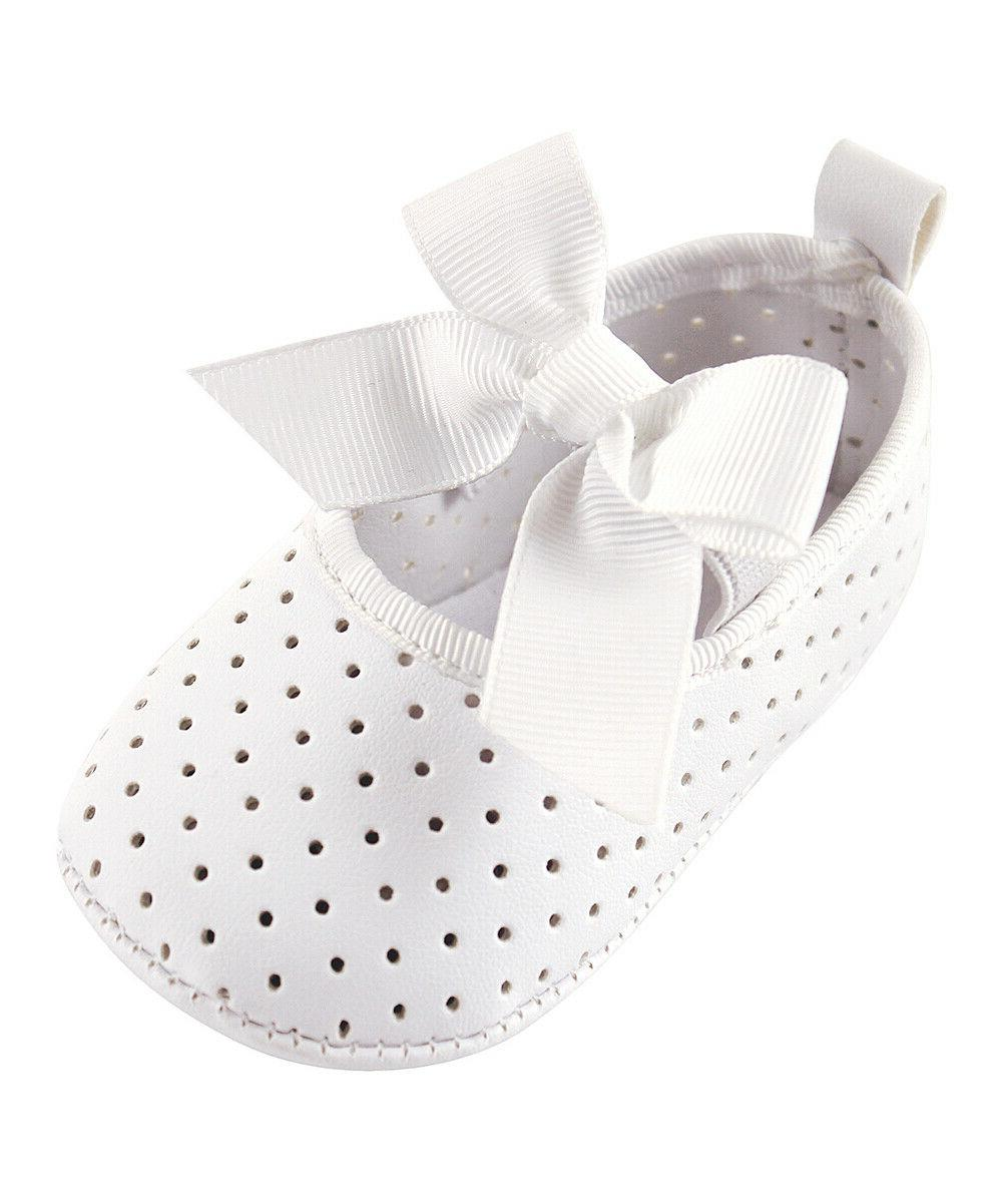 Girls LUVABLE FRIENDS white crib dress shoes 12-18 months NW
