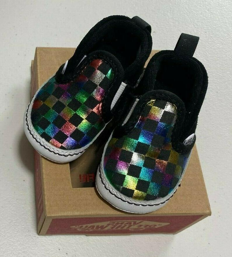infant baby off the wall iridescent check