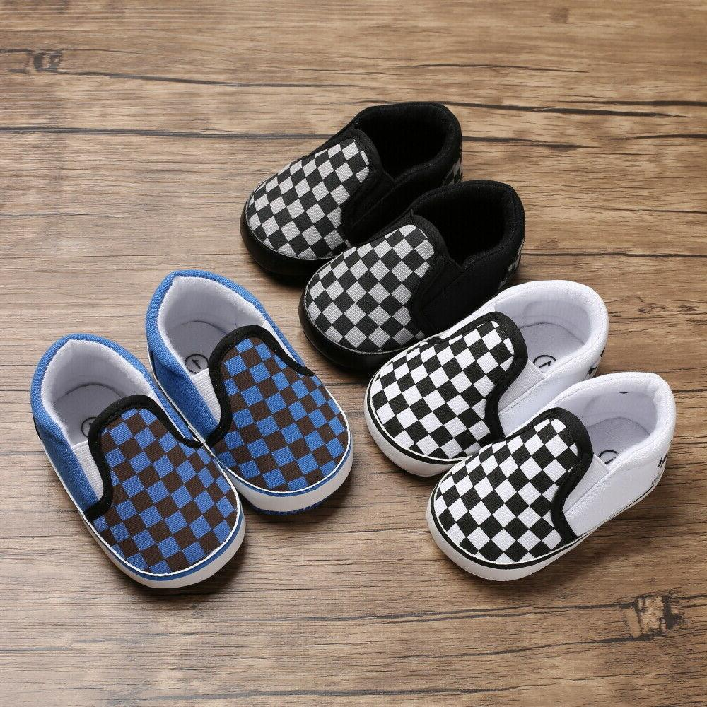 Infant Baby Boy Slip-on Trainers 0-18M