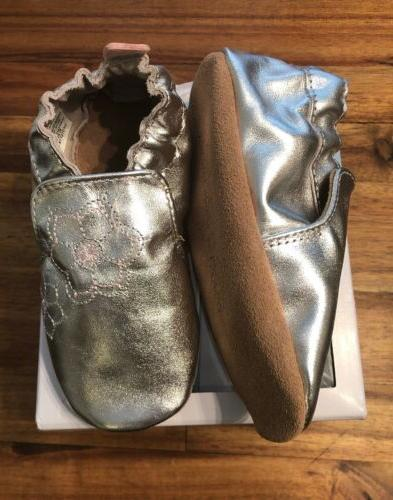 Robeez Girl's and Silver Shoe