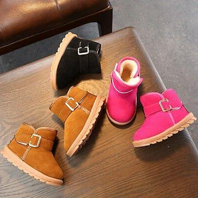 1-6T Baby Girls Warm Sole Crib Snow Boots US