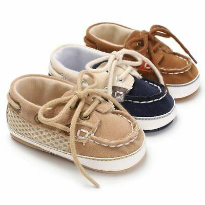 Infant Toddler Kids Sneakers Boys Girls Baby Soft Sole Crib
