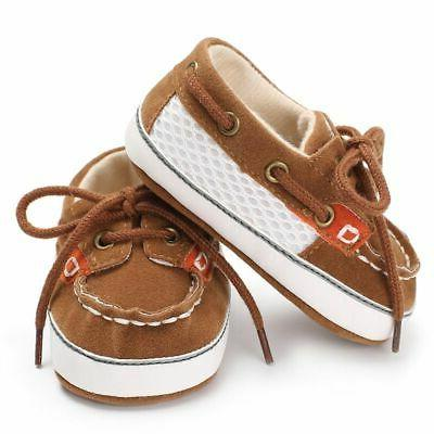 Infant Kids Boys Baby Sole Crib Shoes Months