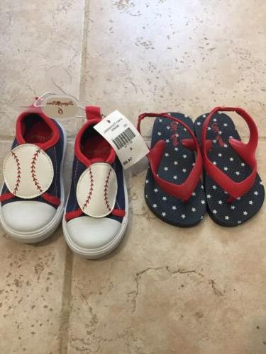 lot of 2 baby boys shoes size