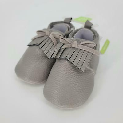 moccasin booties gray size 0 0
