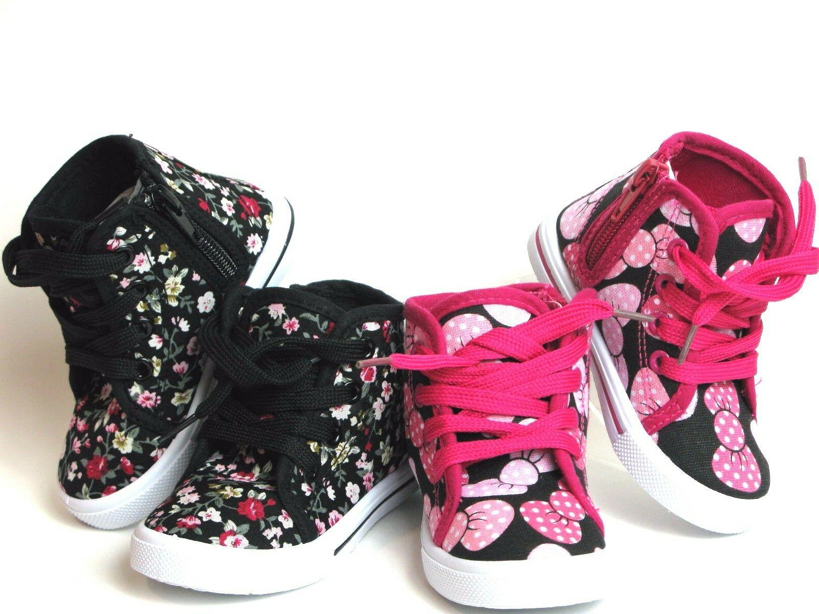 new baby toddler girls canvas high top