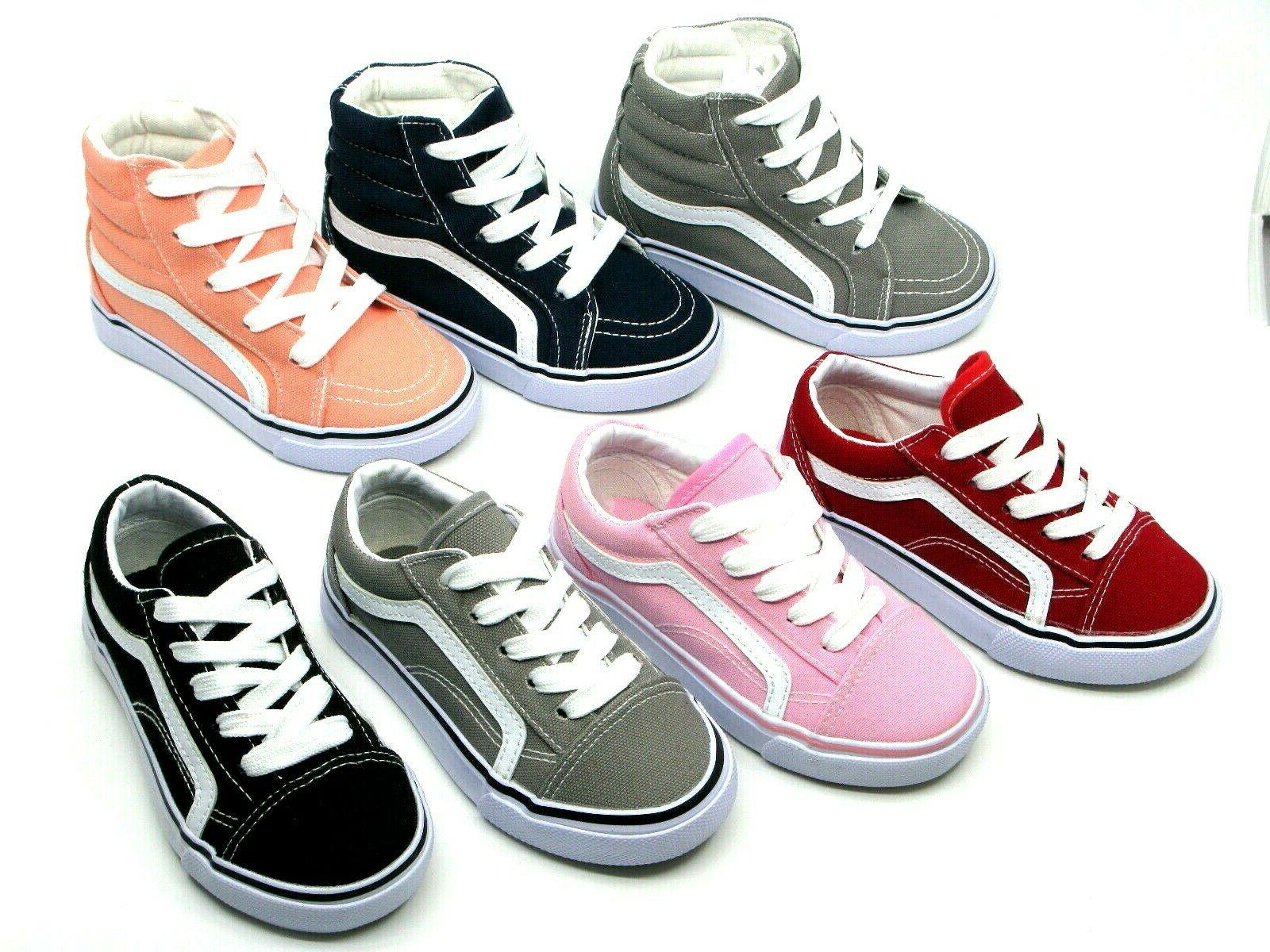 New Lace Up Low Top And Top Baby Toddler Girl Canvas Shoes 5-11