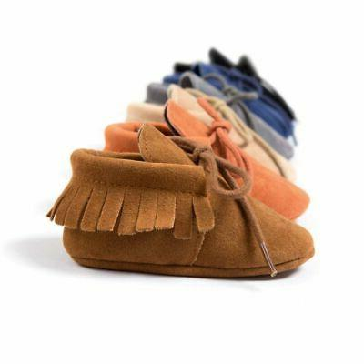 Newborn Cute Soft Toddler Boy Girl Moccasin Shoes