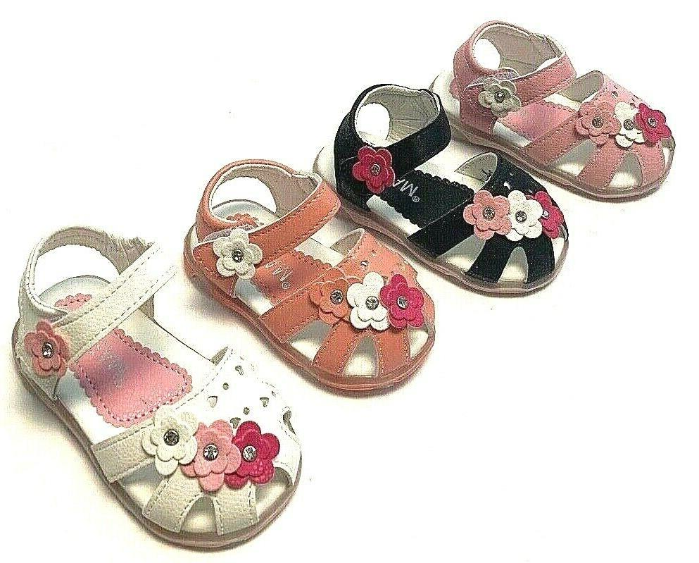 Newborn Girl Sole Crib Shoes Toddler with Light