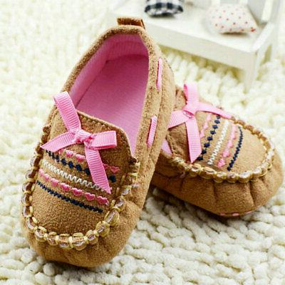 Newborn Baby Girls Casual Shoes Sole Crib Sneakers