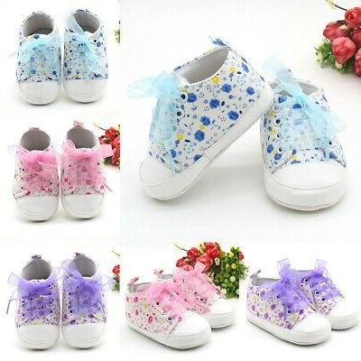 Baby Girls Canvas Shoes Sneakers Boots 0-3 US