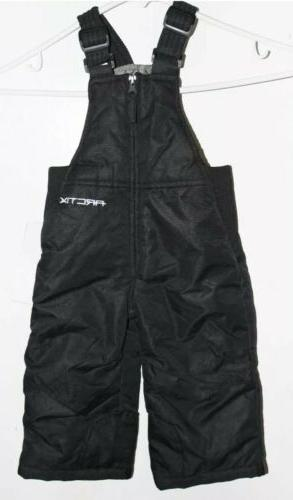nwt black infant toddler insulated overalls pants