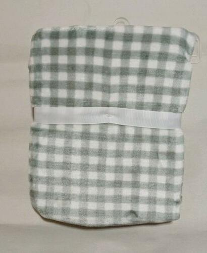 Plaid Gray Baby w/ plush security by Baby