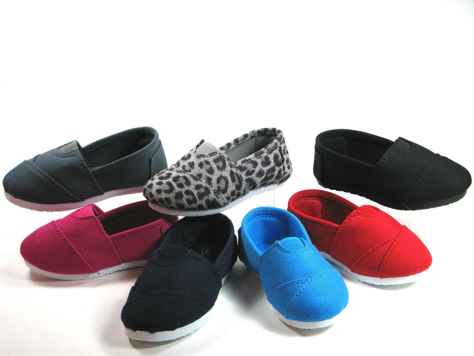 SlipOn Flats for Baby Toddler Girls or Boys Canvas Shoes, Si