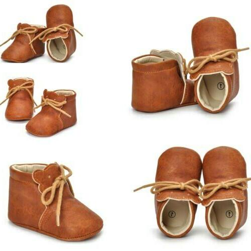 Toddler Baby PU Shoes Infant Kids
