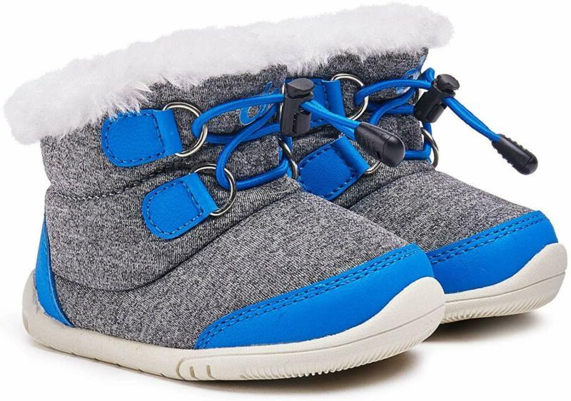 Bmcitybm Toddler Winter Boots Boys Weather Baby Faux Fur Shoes (