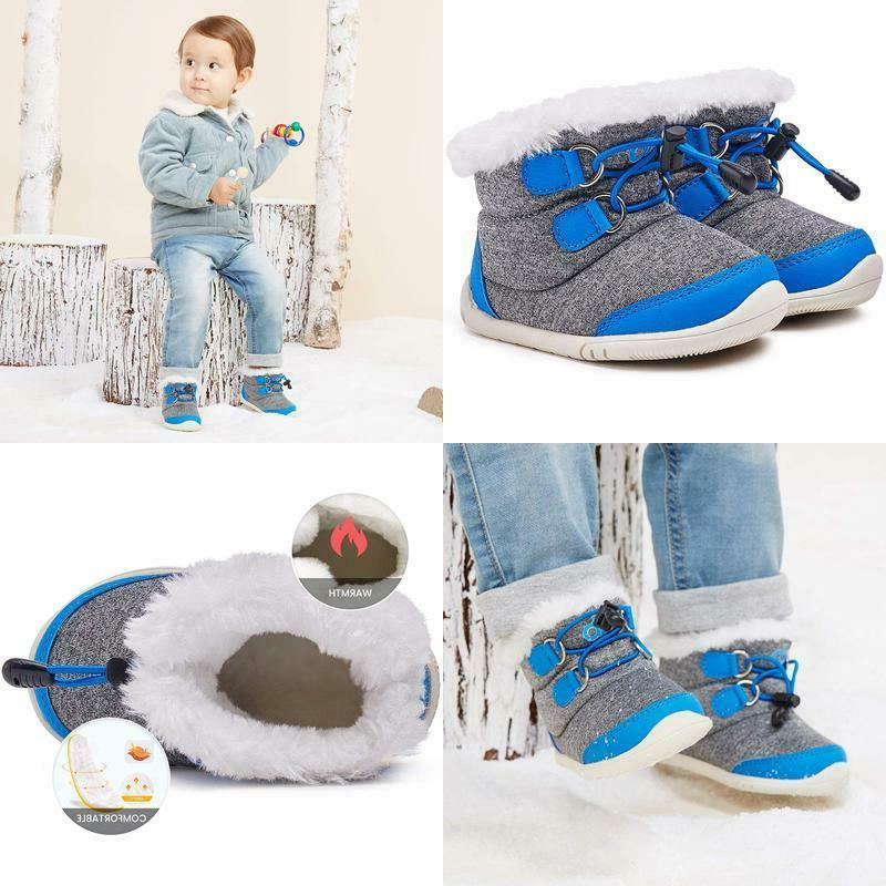 toddler winter snow boots boys girls cold