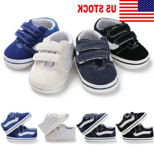 US Stock New Low Top Toddler Baby Boy Girl Canvas Shoes Walk