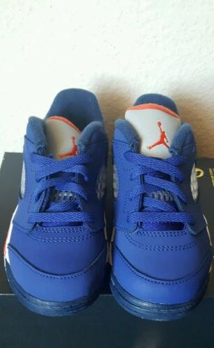 Nike Jordan 5 Low Knicks TD Royal Blue Baby Toddler