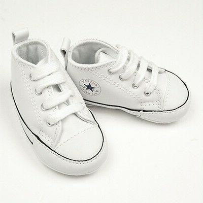 Converse Leather Infant Baby Crib Born Shoes