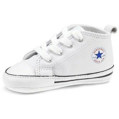 Converse All Star Leather Infant Boys Baby Crib Shoes