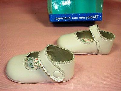 Gerber Mary Jane Infant Baby Faux Soft Sole ~ Size 3 ~