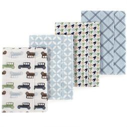 layered flannel 4 pack burp cloth boys