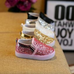 LED Sequins Kids Boy Girl Shoes Luminous Shoes Toddler Baby