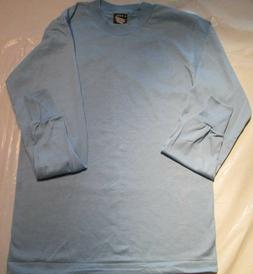 Fruit of The Loom Long Sleeve light Blue T-Shirt Small Size