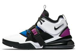 MENS NIKE AIR FORCE  270 SHOES / SIZE 11 / WHITE-BLACK-BLUE