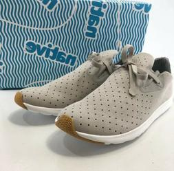 Native Mens Perforated Microfiber Apollo Moc Shoes Pigeon Gr