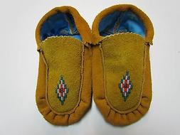 Moccains, BEADED, NATIVE AMERICAN, CHILD/ YOUTH SIZE, 5 1/2