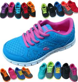 NEW Baby Toddler Neon Lace Up Sneaker Tennis Shoe Size 4 to